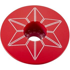 Supacaz Star Capz Pulverlackerad röd